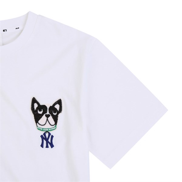 Áo MLB New York Yankees Yomiyam Bark Short Sleeve T shirt White 31TSTF931-50W