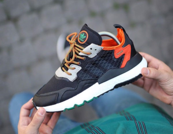 Adidas Nite Jogger Cordura Black Orange EE5549