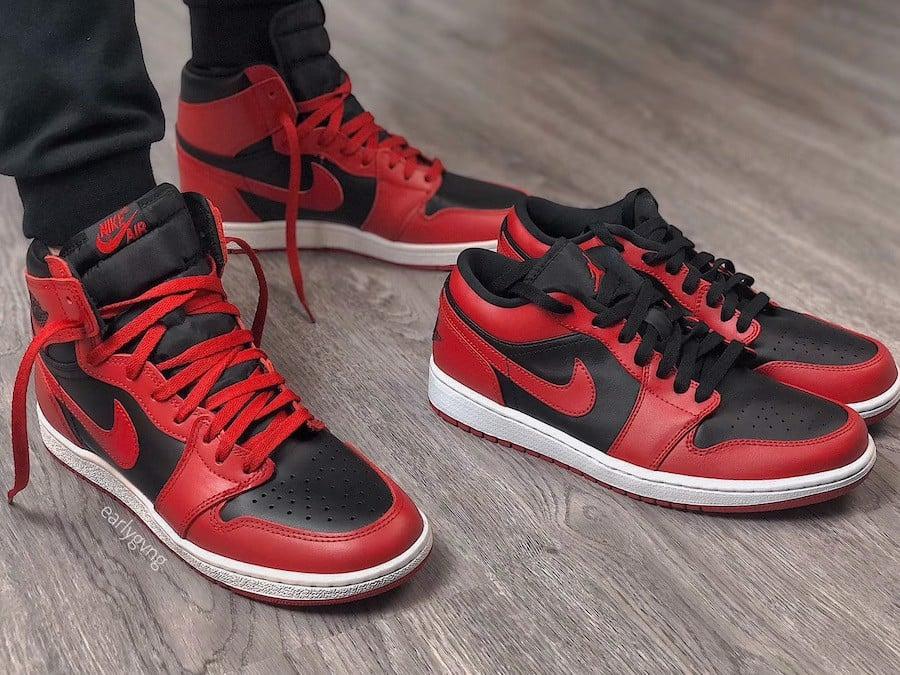 Nike Air Jordan 1 Low 'Reverse Bred' 553558-606 – AUTHENTIC SHOES