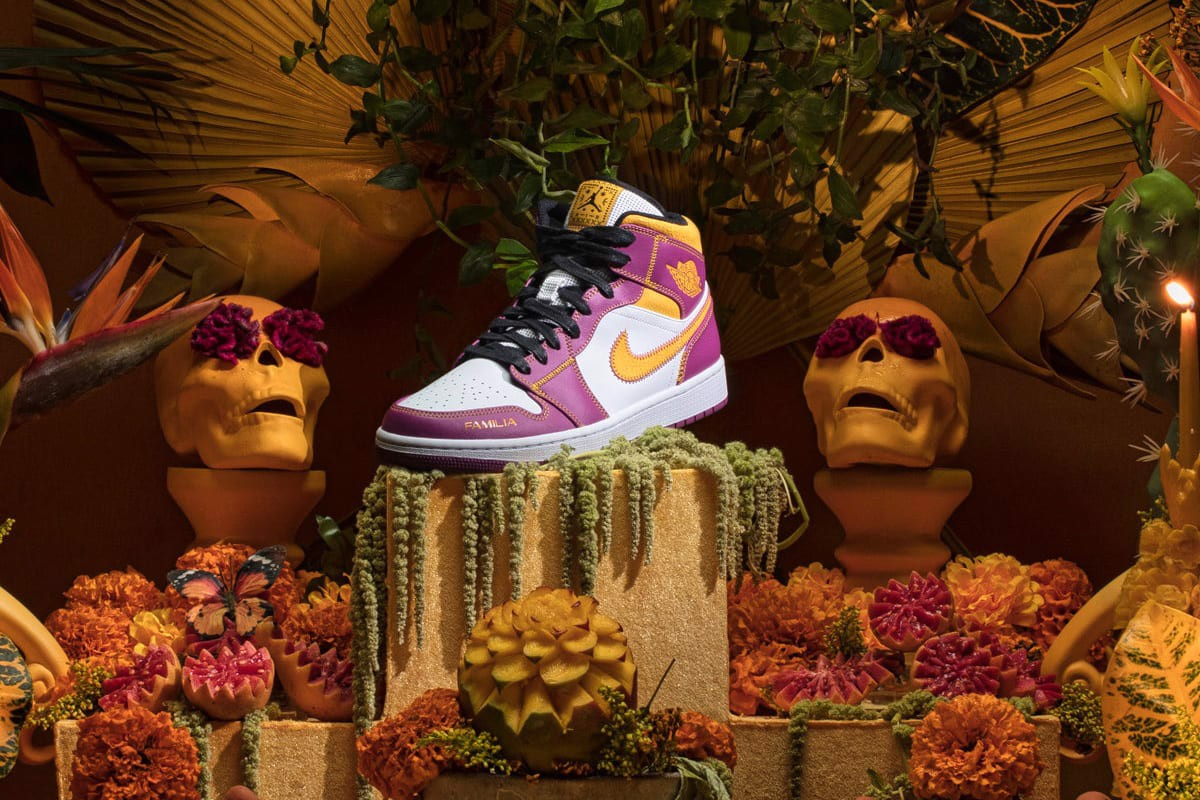 Nike Air Jordan 1 Mid Day of the Dead 'Día de Muertos' DC0350-100