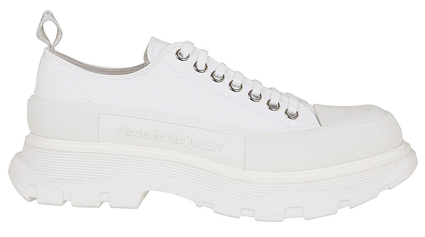 Giày Alexander McQueen Tread Slick Lace Up White 604257 W4L32 9000