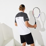 Lacoste Polo SPORT Mesh Sleeved Tennis White 4ZS DH4776-51-4ZS