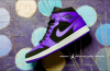 Nike Air Jordan 1 Mid Black 'Dark Concord' 554724-051