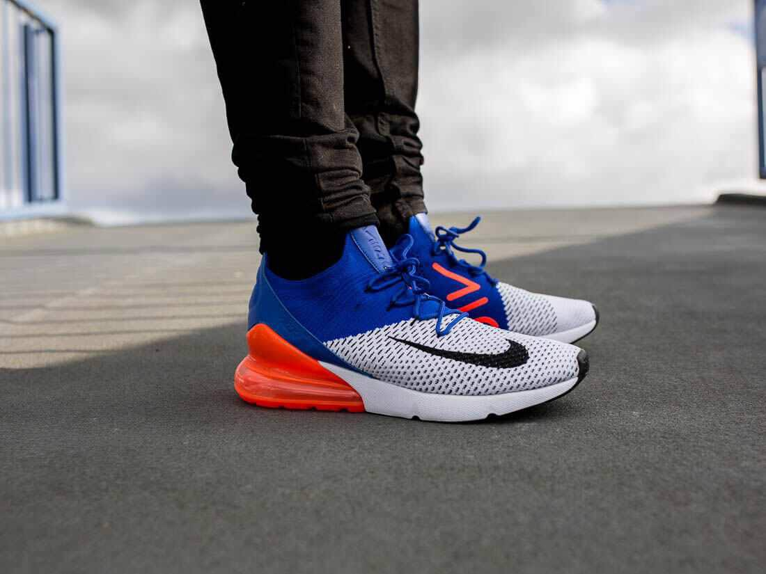 Nike Air Max 270 Flyknit 'Blue Crimson' AO1023-101