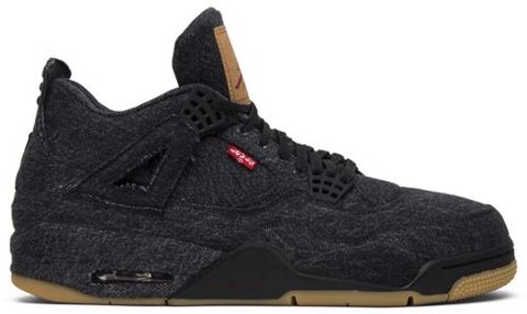 Nike Levi's x Air Jordan 4 Retro 'Black Denim' AO2571-001
