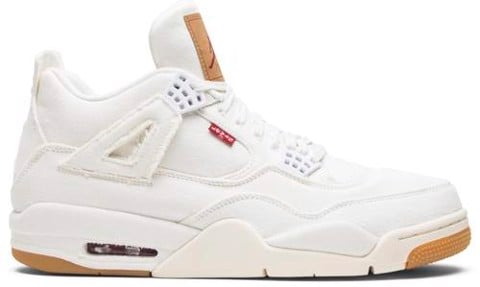 Nike Air Jordan Levi's x Air Jordan 4 Retro 'White Denim' AO2571-100