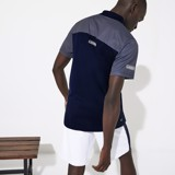 Áo Lacoste Polo SPORT Mesh Sleeved Tennis Navy DH4776-51-R26