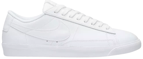 giay nike blazer low le triple white aq3597 100