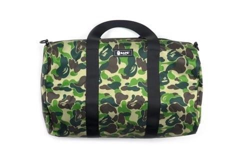 BAPE Green Camo Duffle Bag