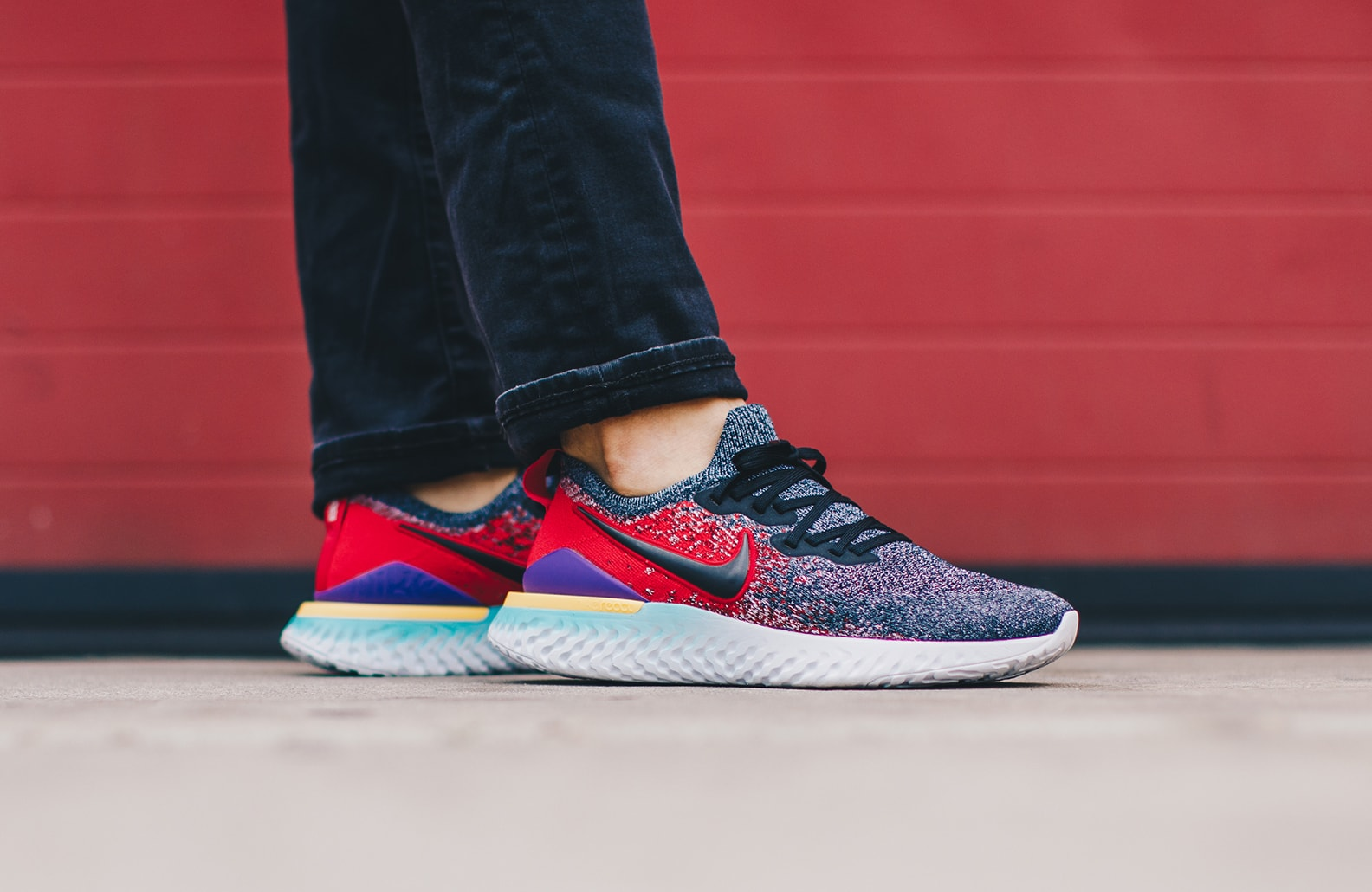 Nike Epic React Flyknit 2 Black Hyper 'Jade University Red' BQ8928 ...