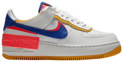 Nike Wmns Air Force 1 Shadow 'White Crimson Blue' CI0919-105