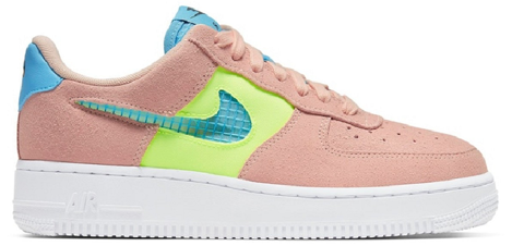 giay nike air force 1 low washed coral ghost green cj1647 600