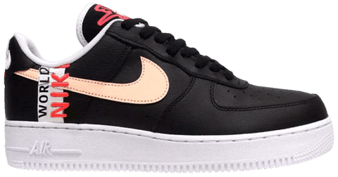 Nike Air Force 1 Low 'Worldwide Pack - Black Crimson' CK6924-001
