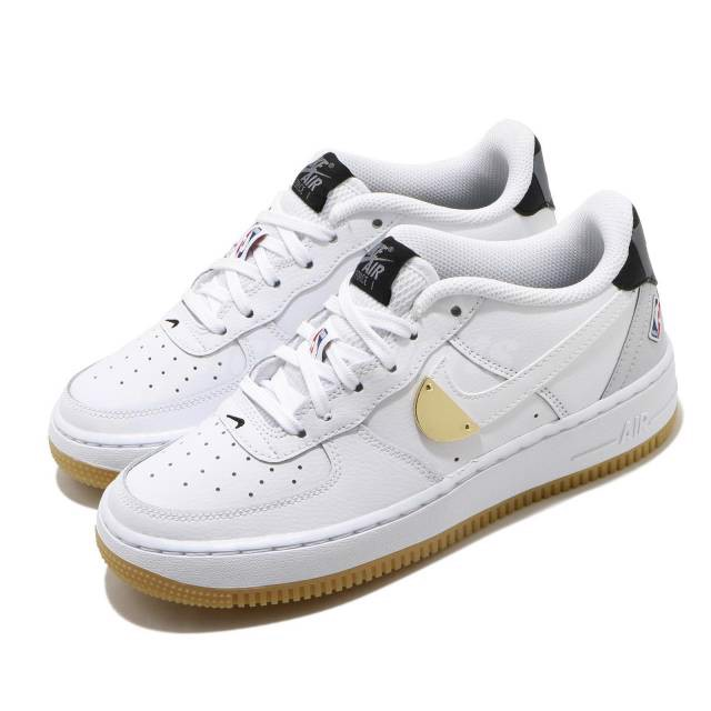 Nike NBA x Air Force 1 LV8 1 HO20 GS 'White' CT3842-100