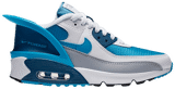 Giày Nike Air Max 90 FlyEase GS 'White Industrial Blue' CV0526-103