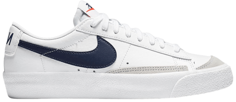 giay nike blazer low 77 gs white midnight navy da4074 100