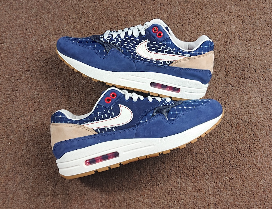 Giày Nike x Denham Air Max 1 Blue Void CW7603-400