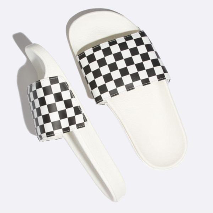 Vans Wmns Slide On Checkerboard Marshmallow Black VN0A38EHQ4O