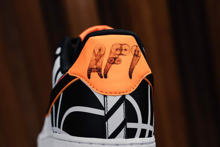 Nike Air Force 1 Low White 'Black Orange' 820438-109
