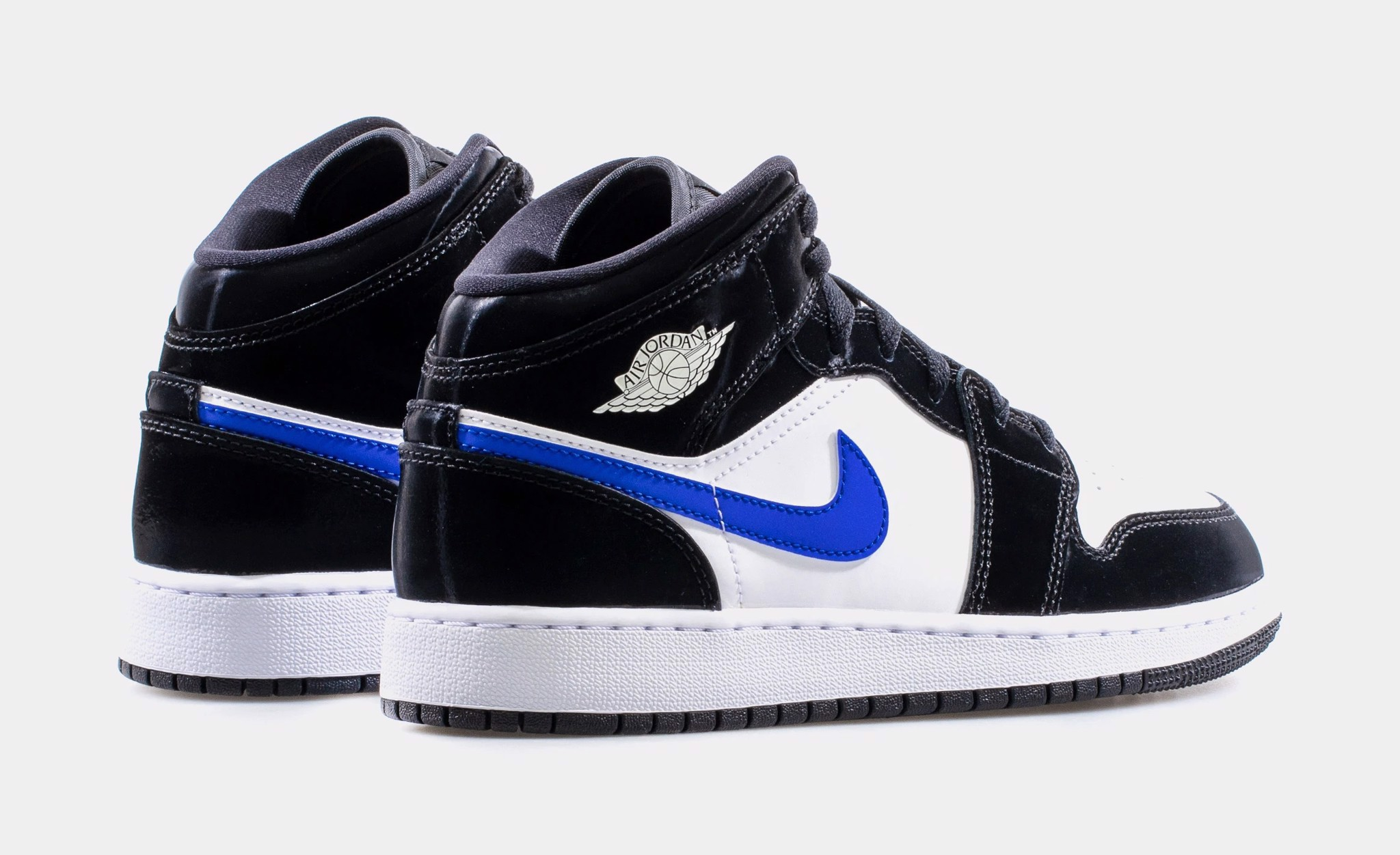 Nike Air Jordan 1 Mid Black Racer Blue White (GS) 554725-084