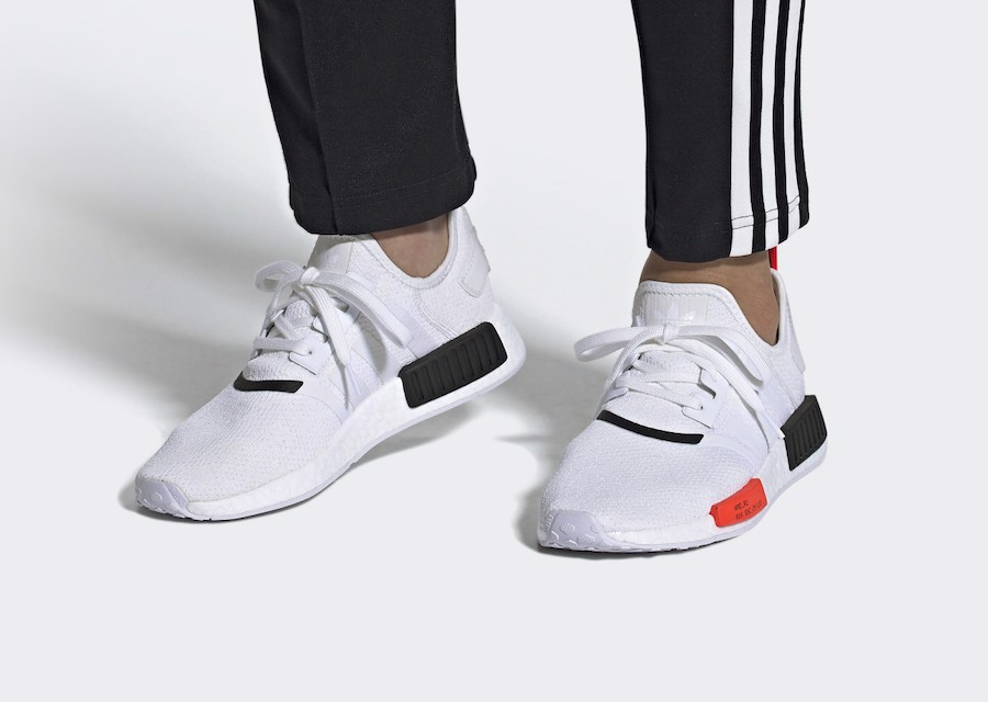 Adidas NMD R1 'White Solar Red' EE5086
