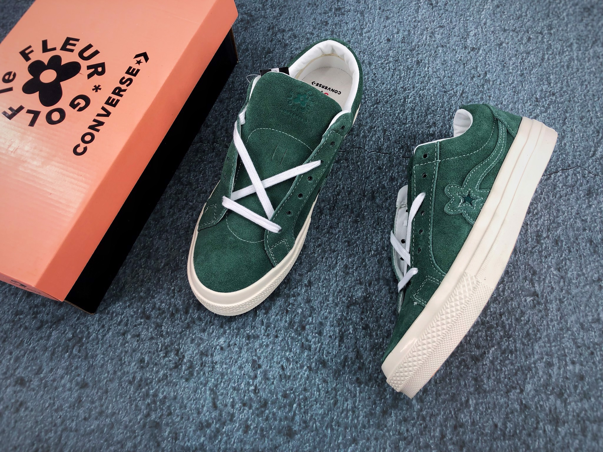 Converse Golf Le Fleur x One Star Ox 'Greener Pastures' 162130C