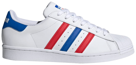 giay adidas superstar white red blue fv3033