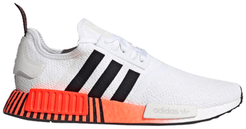 adidas nmd r1 glitch white solar red fv3648