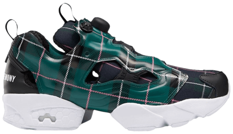 giay reebok opening ceremony x instapump fury og green plaid fw2474