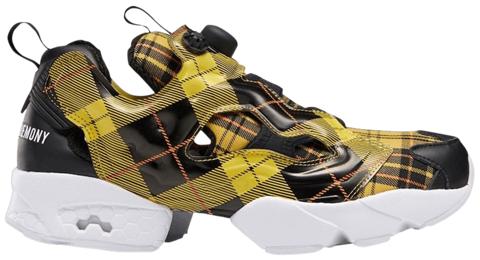 giay reebok opening ceremony x instapump fury og yellow plaid fw2475