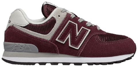 giay new balance 574 kids burgundy gc574gb