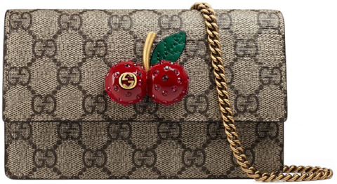 tui gucci gg supreme mini bag with cherries 481291 k9gxt 8694