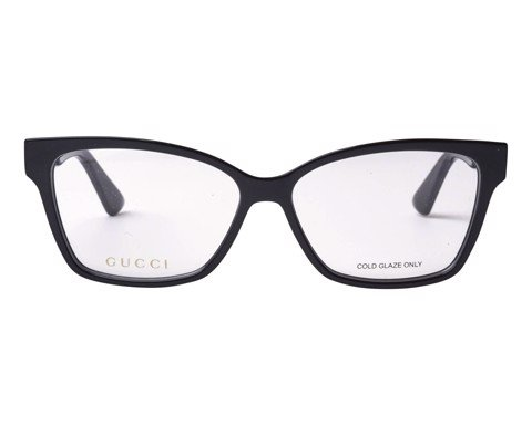 Gucci Eyeglasses Black Rectangular Gg0634o 001