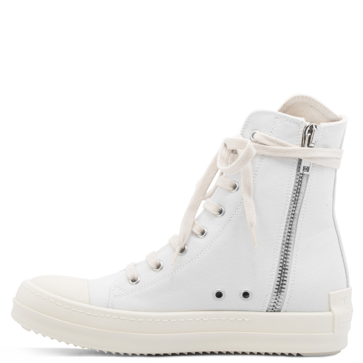 Rick Owens White High Top Sneakers DS21S2800 W