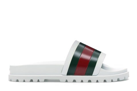 Gucci Web Slide Sandal White 429469 GIB10 9079