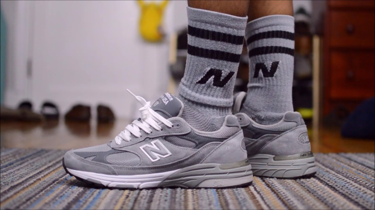Giày New Balance 993 Made in USA 'Grey White' MR993GL
