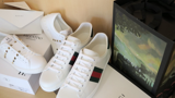 Giày Gucci Wmns Ace 'Green Crocodile'  387993 A3830 9071