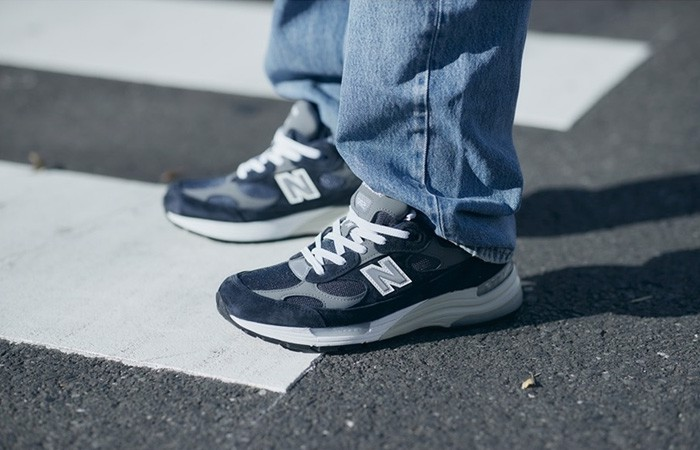 Giày New Balance 992 Made in USA 'Navy Grey' M992GG