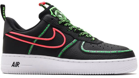 giay nike air force 1 07 prm worldwide black green strike crimson ck7213 001