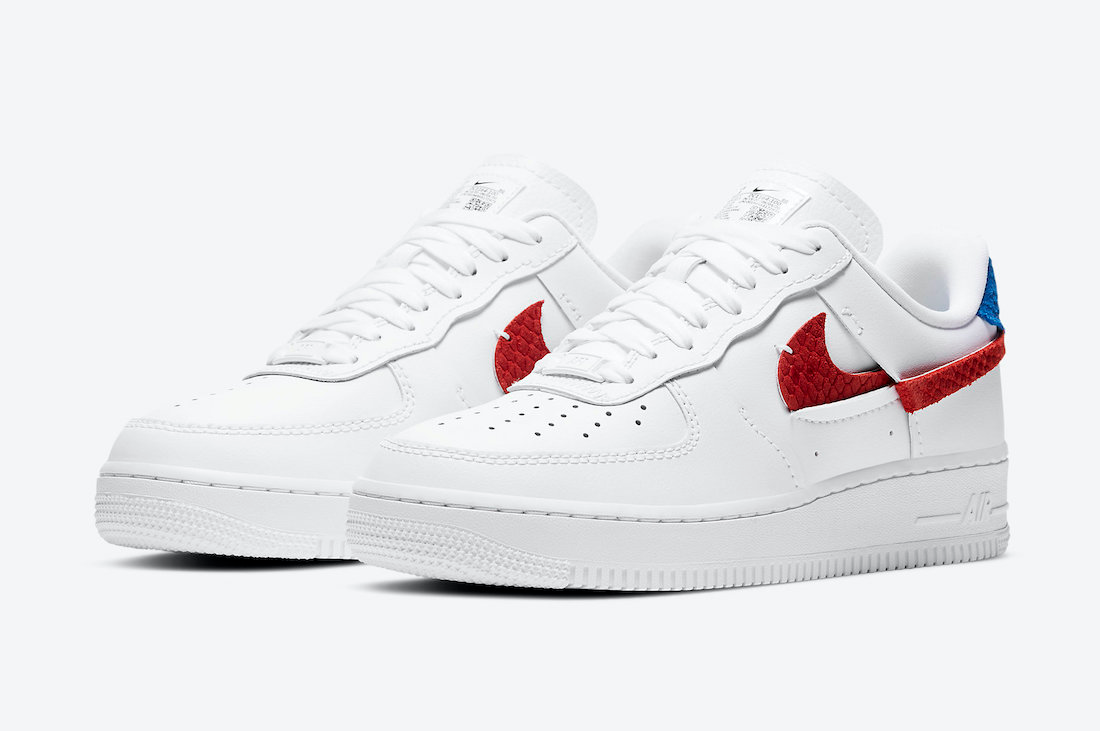 Giày Nike Air Force 1 LXX Snakeskin University Red Royal DC1164-100