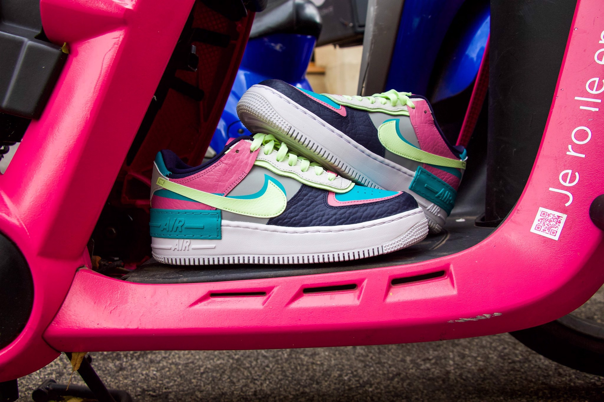 Nike Air Force 1 Shadow Barely Volt Oracle Aqua CK3172-001