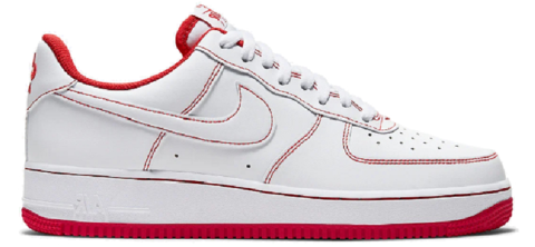 giay nike air force 1 low white university red cv1724 100