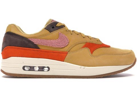Nike Air Max 1 Crepe Wheat Gold Rust Pink CD7861-700