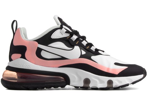 Nike Air Max 270 React Black White Bleached Coral (W) AT6174-005