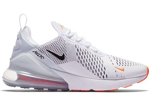 Nike Air Max 270 White Black Total Orange AH8050-106