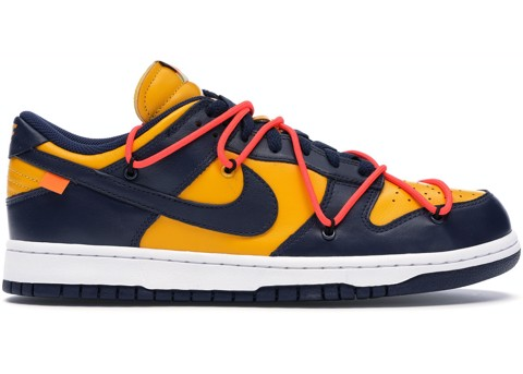 Nike Dunk Low Off-White University Gold Midnight Navy CT0856-700