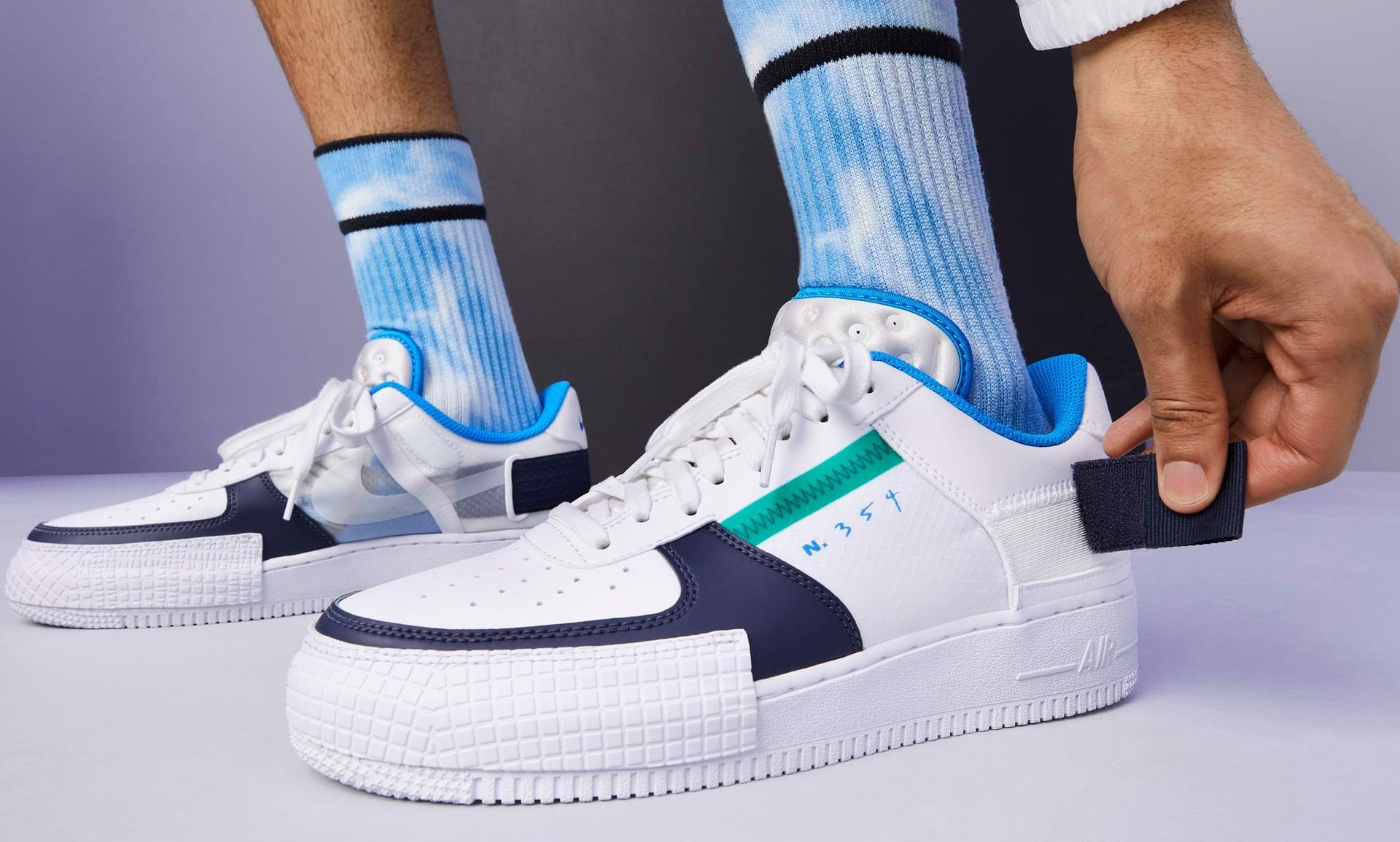 Nike Air Force 1 Type White Obsidian CQ2344-100