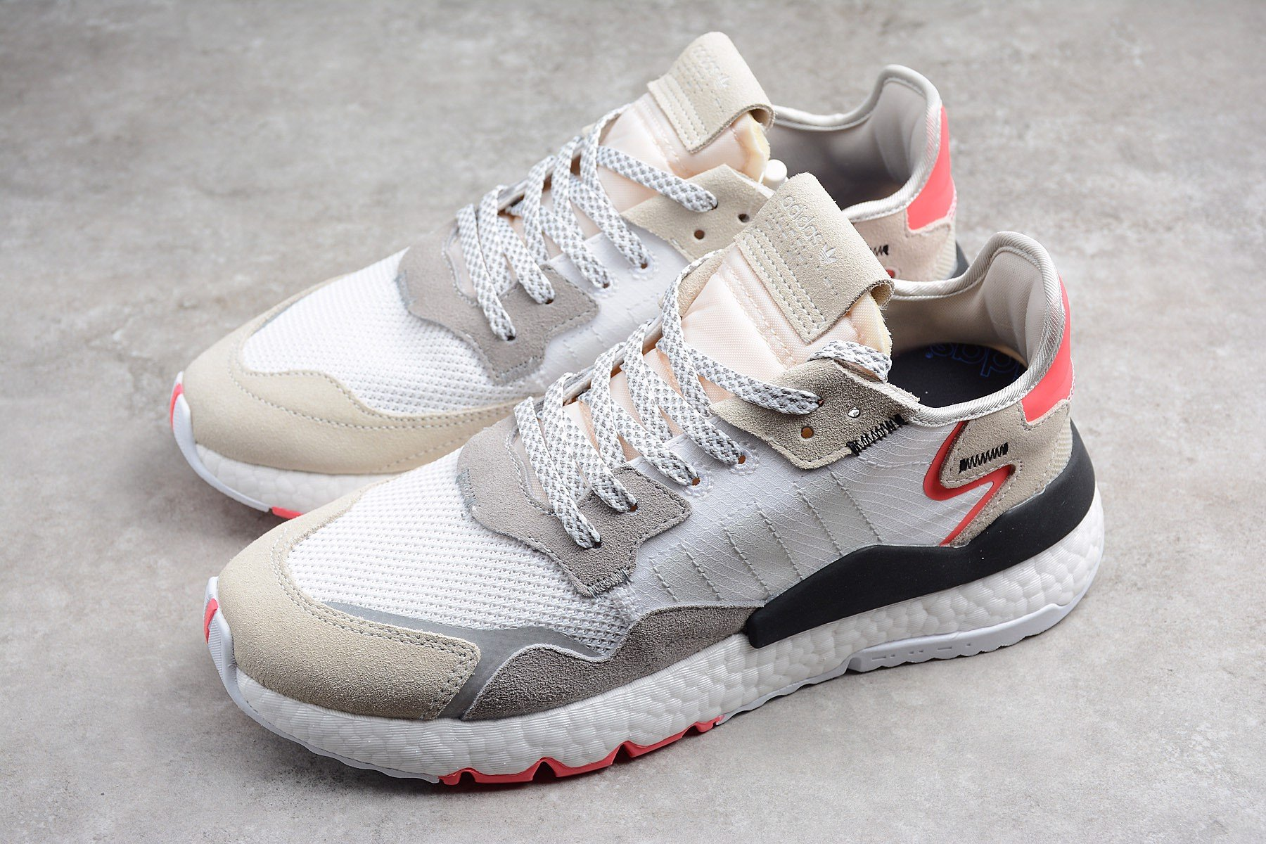 Adidas Nite Jogger 'White Shock Red' F34123