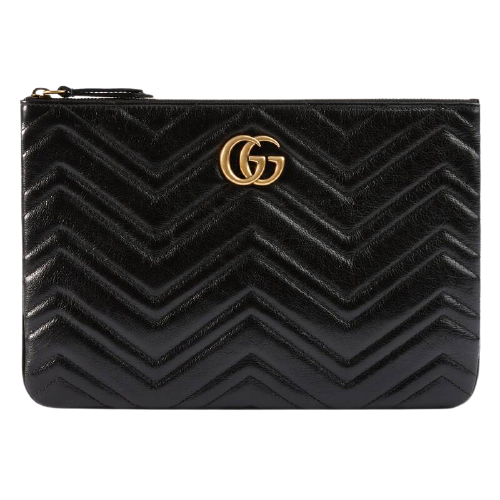Túi Gucci Leather GG Marmont Pouch With Heart Black 525541 0OLET 1000