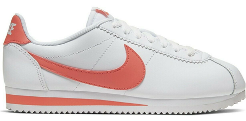 giay nike classic cortez leather white magic ember 807471 115